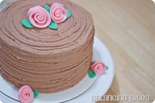 Chocolate Buttercream Ridged Cake (1 of 6)