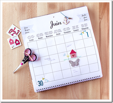 calendario scrapbooking