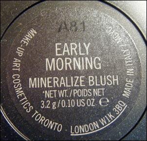 MAC Early Morning Mineralize Blush