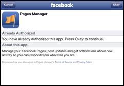 Facebook Pages Manager permissão de acesso