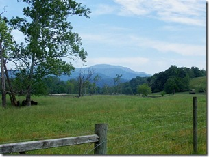 View of Blue Ridge Mountain and location of Stonewall Jackson's Camp on Route 670, Marker JE-15