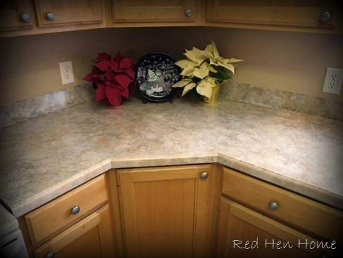 Red hen home review giani granite countertop makeover for Painting kitchen countertops before and after