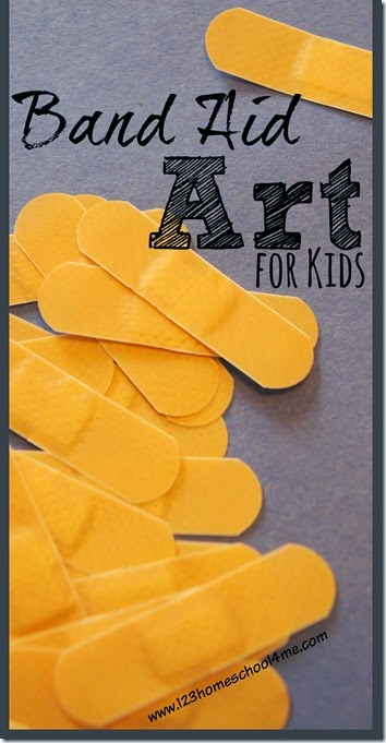 Band Aid Art is super fun Craft for Kids where their creativity can sore. It is also great for a Sunday School Lessons on Jesus Heals.