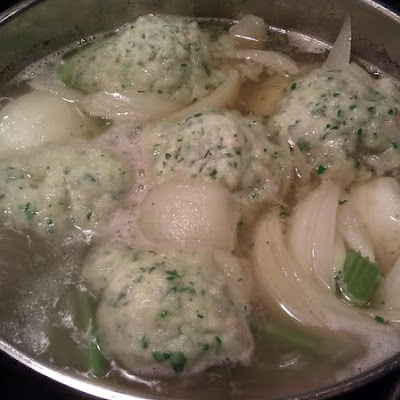 Boiled beef with parsley dumplings