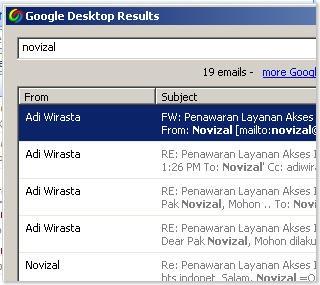 google desktop bantu cari