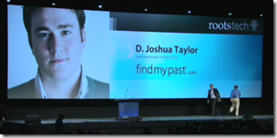 Josh Taylor keynote at RootsTech