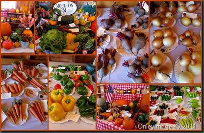 fair veggies collage