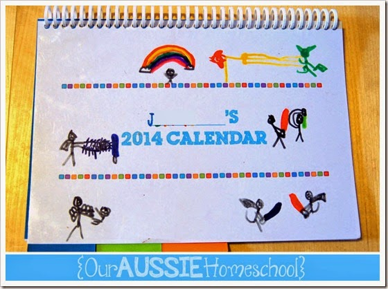 Calendar Notebook 2014 | Our Aussie Homeschool