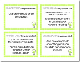 Brain Building Question Cards.Middle School.4