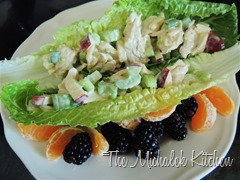 Chicken Apple Salad w fruit