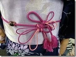 リビングカルチャー着付け練習も半巾帯を (6)
