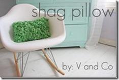 shaggy fluffy cute pillow