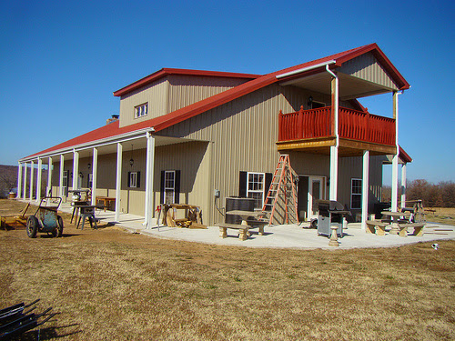 Wrap Around Porches Ranch Homes And Metal Building Homes
