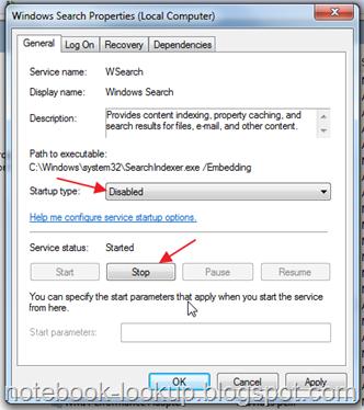 วิธีแก้ปัญหาเครื่องช้าเพราะ searchindexer.exe ใน Windows 7