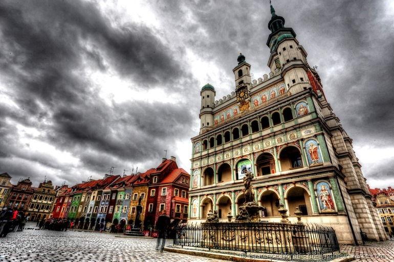 Posener Marktplatz und Rathaus