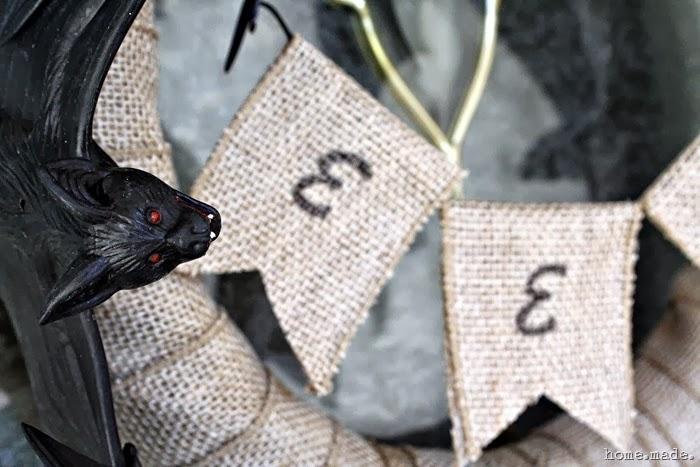Spooky Bat Halloween Wreath