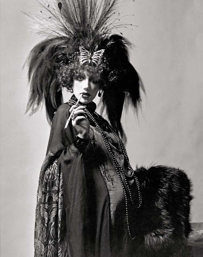 Marisa Berenson dressed for the Proust Ball as La Casati.