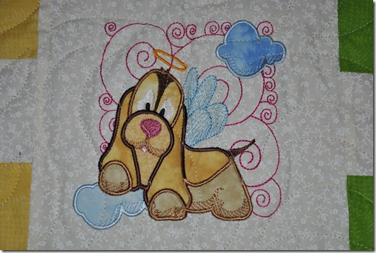 Angel Puppy Quilt 3