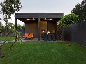 Jardin terraza para barbacoa