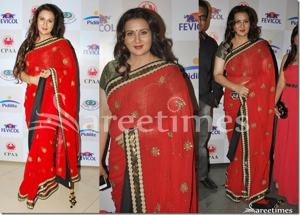 Poonam_Dhillon_Red_Manish_Malhotra_Saree