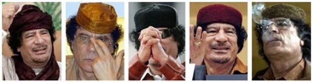 Muammar Kadhafi, ex-ditador da Líbia -