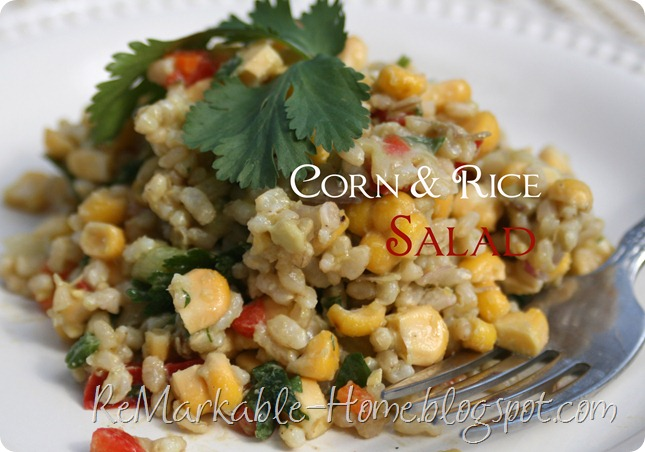 corn and rice salad