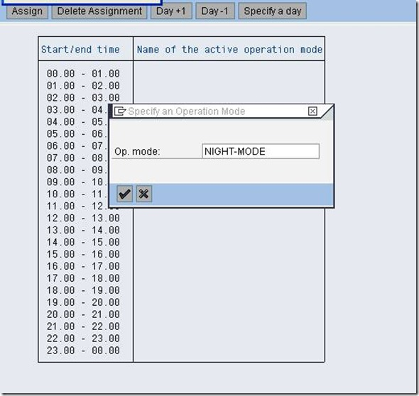 Configuring SAP Operation Mode