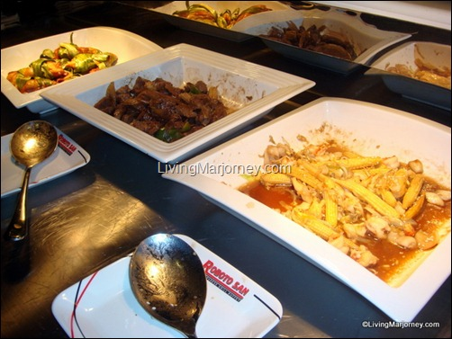Robotosan Ready Buffet Veggie, Chicken & Pork dishes