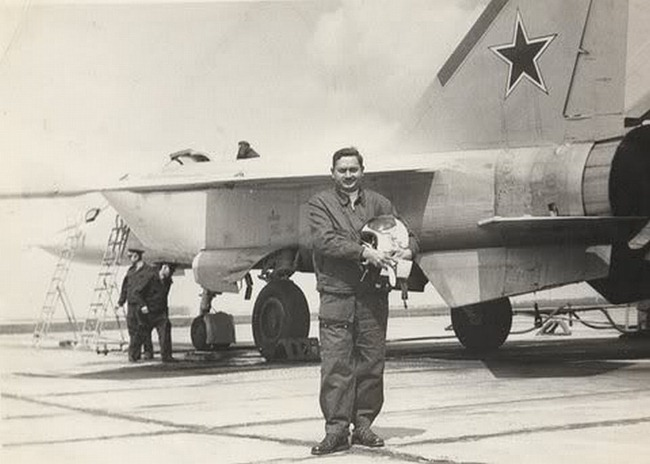 Air Marshal [then, Group Captain] P.M. Ramachandran, Indian Air Force [IAF], first Indian to Fly Soviet MiG-25 fighter aircraft