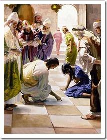 约翰8 - 耶稣宽赦淫妇 John 8 - woman caught in adultery
