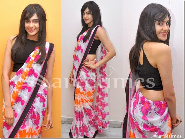 Adah_Sharma_Printed_Saree
