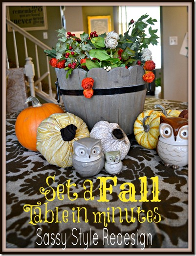Set a fall table in minutes Sassy Style Redesign