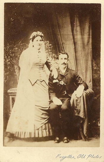 Wedding Photo  Cabinet Card CB Colburn  Perham antiques