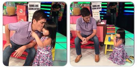 Vic Sotto, Ryzza Mae Dizon in Eat Bulaga!