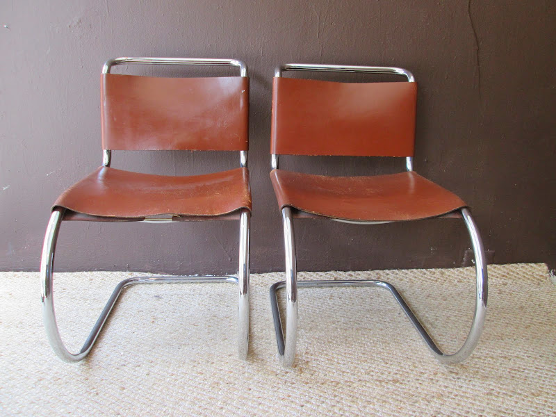 Mies van der Rohe Inspired Chair Pair 1