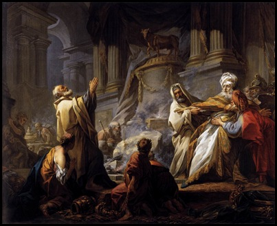 Jeroboam Sacrificing to the Golden Calf, Jean-Honore Fragonard 1752