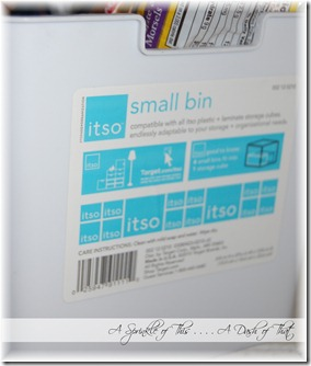 Freezer bins from Target {A Sprinkle of This . . . . A Dash of That}
