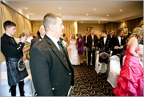 groom wedding photography at the cults hotel aberdeen