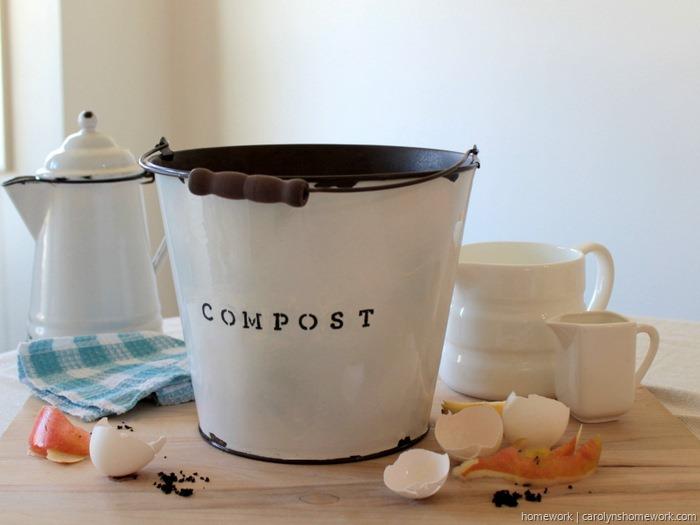 DIY Faux Enamel Ware Compost Bin - homework ~ carolynshomework (10)
