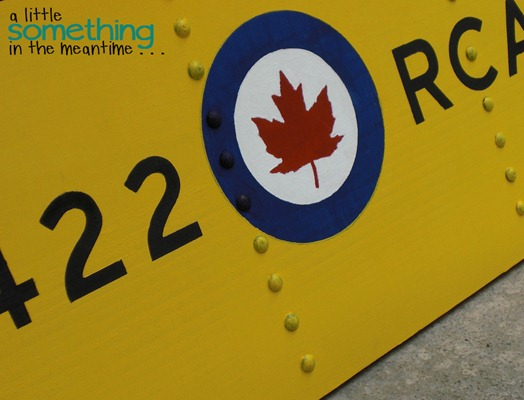 RCAF Sign Finished Angled WM