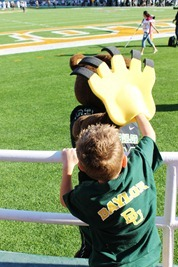 Nash's 1st day of School & Baylor Game 052
