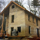 Structure composed of hempcrete