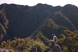 The guide admires the view from the ridges of Moncong Lompobatang (Heinz von Holzen, July 2011)