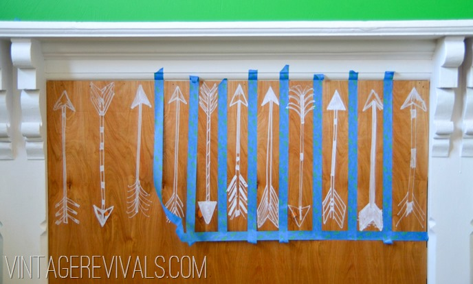 Hand Drawn Arrow Headboard @ Vintage Revivals