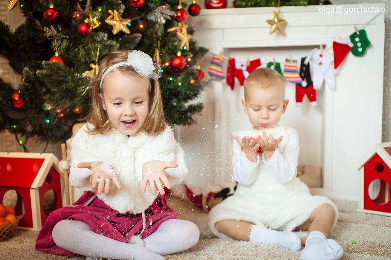Детский новогодний фотопроект Рождественские мечты. 17. Глеб и Вероника-9819