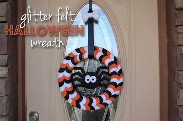 glitter felt Halloween wreath