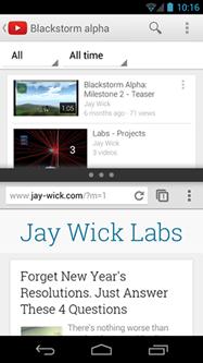 Android wishlist #1: Splitting YouTube and Chrome