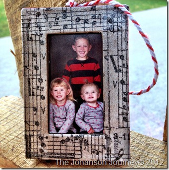 The Johanson Journey Family Frame Ornament FINALE