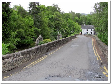 We had to drive over this bridge over the River Dochart in the centre of Killin.