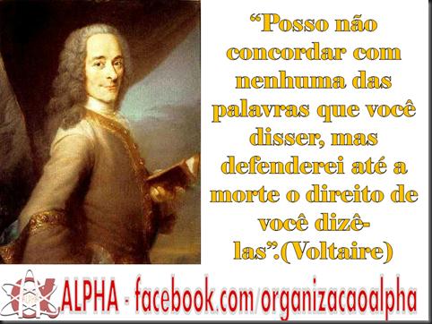 Liberdade de  Expressão ALPHA Voltaire
